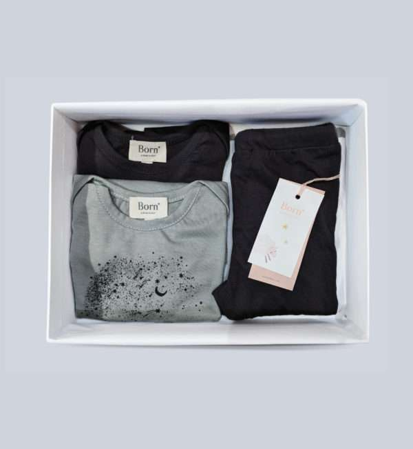 grey tshirt and leggings set for baby boy