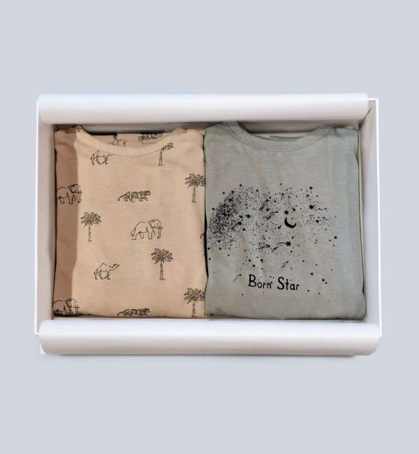 Animal print bodysuit for babies
